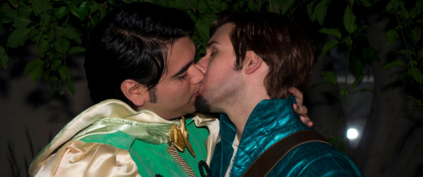 Gay Disney Kiss