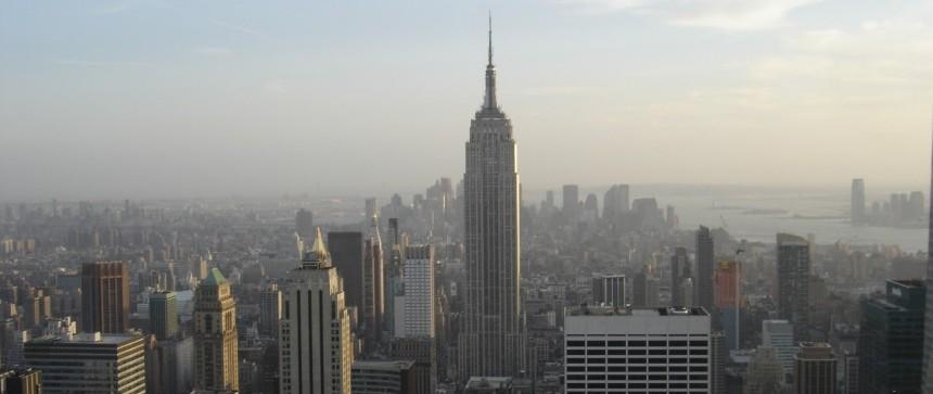 Vue depuis Top of the Rocks sur l'Empire State Building