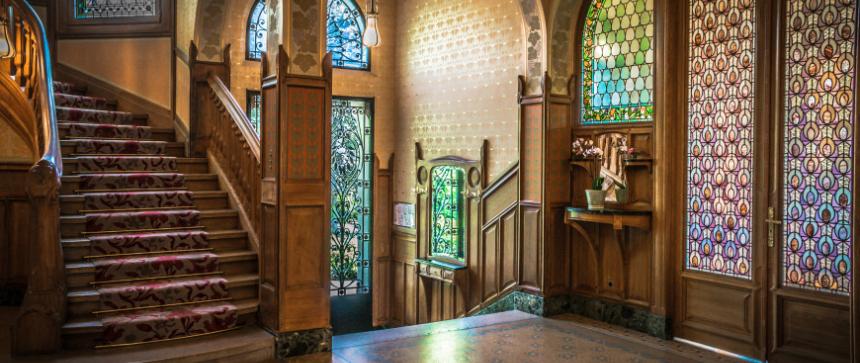 Hall d'entrée de la Villa Demoiselle