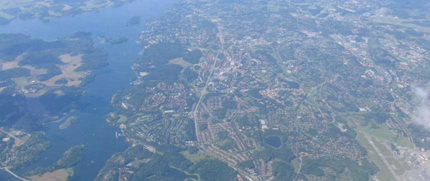 Suède vue du ciel