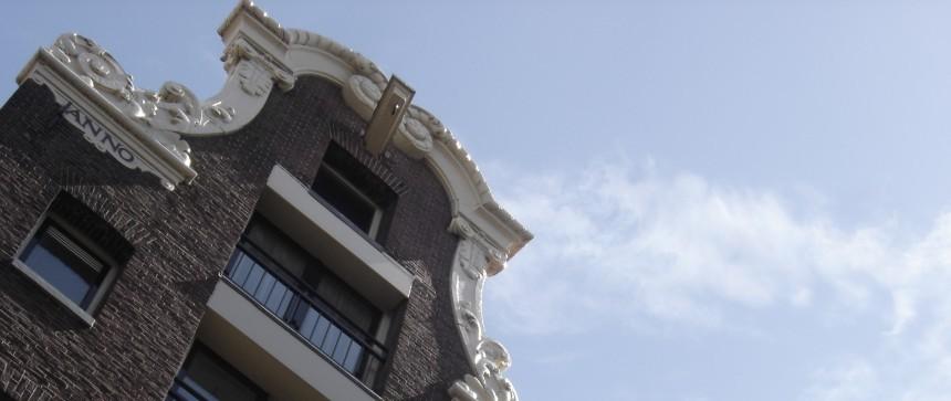 Façade de maison à Amsterdam