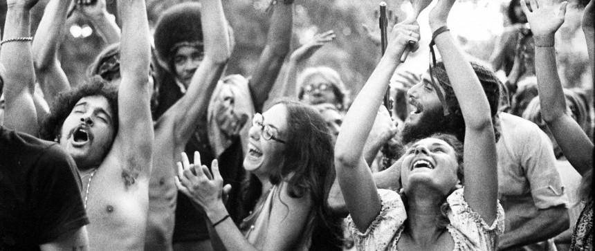 Hippies heureux