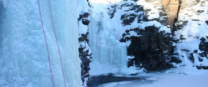Escalade sur glace - Abisko