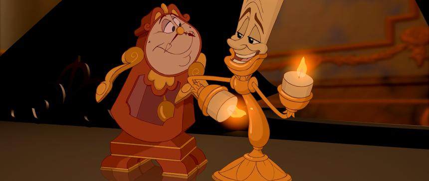 Lumière et Big Ben - La Belle et la Bête - Disney