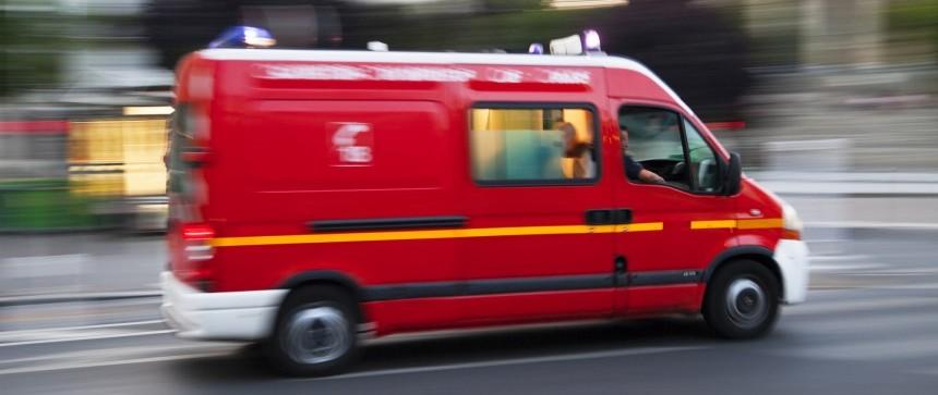 Ambulance de pompiers français
