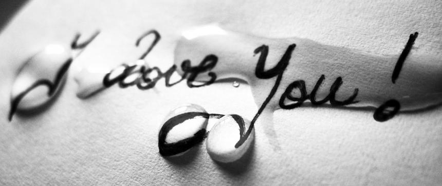 Je t'aime avec des larmes