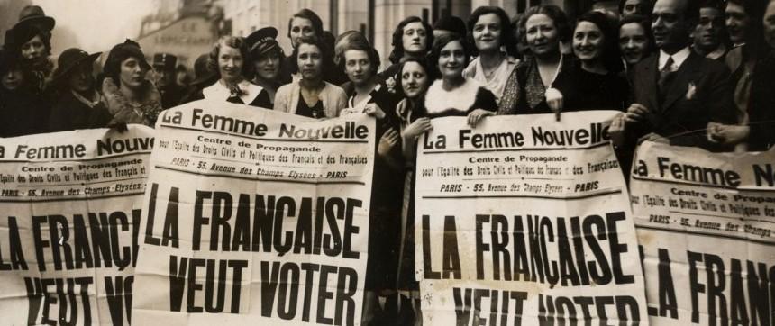 La femme française veut voter