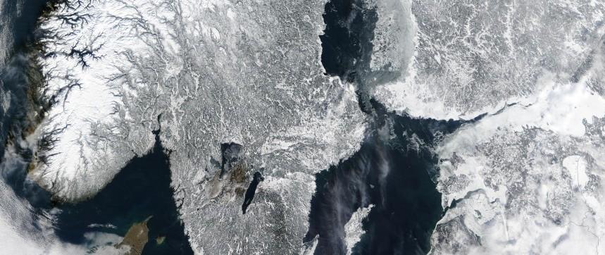 Scandinavie sous la neige