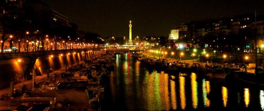 Bastille vu depuis le Port de l'Arsenal