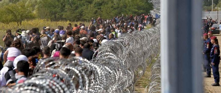 Migrants à la frontière serbe